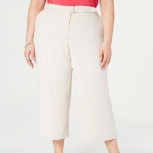New Alfani Wide Leg Belt Tab Crop Pants